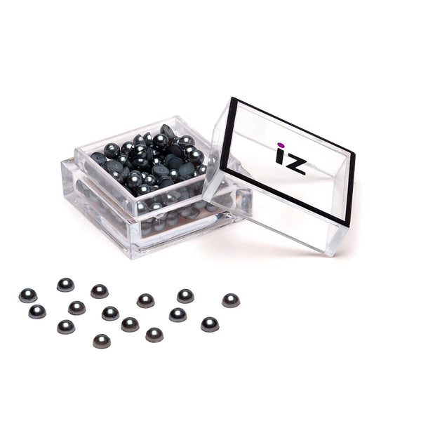 Medium Grey Pearl Nail Studs 50pcs