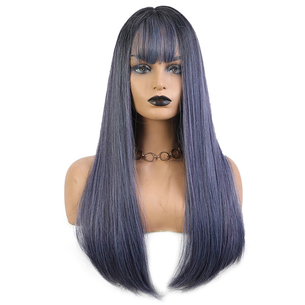 Straight Hair Fashion Ladies Chemical Fiber Wig - beauty-identity99