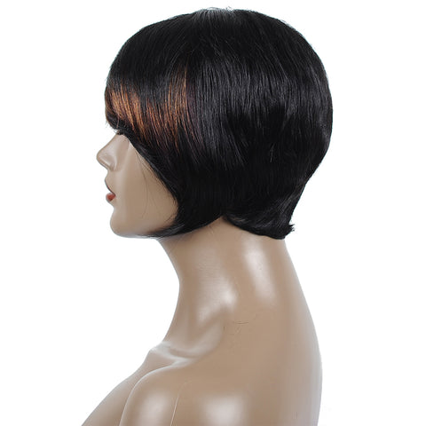 Short Bob Wig For Black Women 6 Inches Ombre 2019 Newest Chic Hairstyle - beauty-identity99