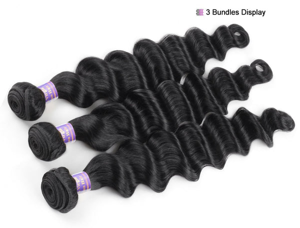 Peruvian Loose Deep Wave  Hair 1/3/4 Bundles