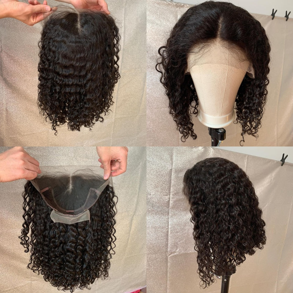 Brazilian Jerry Curly with baby hair Lace Front Human Hair - beauty-identity99