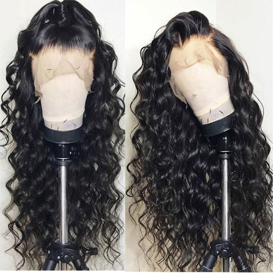 Brazilian Water Wave Hair Wig Pre Plucked With Baby Hair Lace