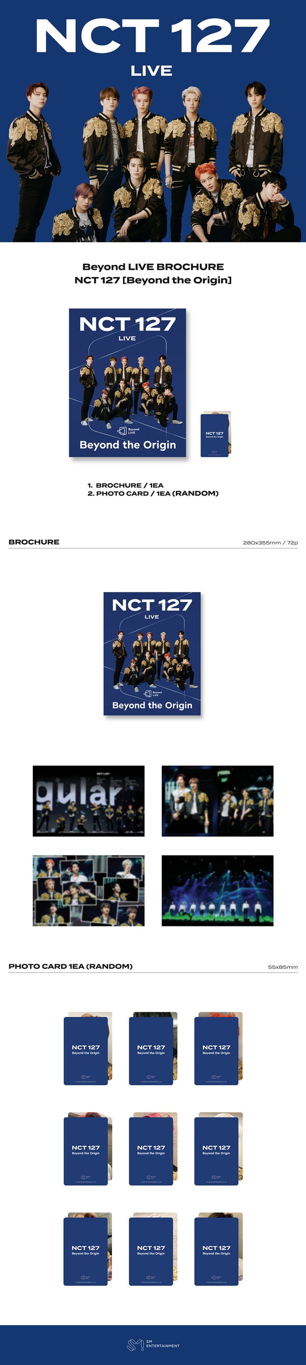 NCT 127 - OFFICIAL Beyond the Origin : Beyond LIVE BROCHURE