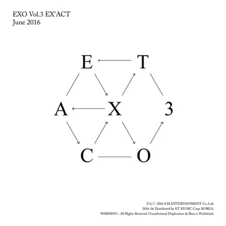 EXO - 3rd Album - [EX'ACT] - Korean Version - K Pop Goods Pink House