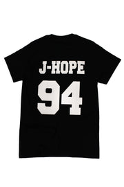 BTS Names Signed T-Shirt -J-Hope - - K Pop Goods Pink House