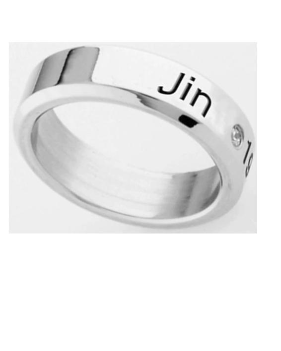 BTS silver color ring Titanium steel - K Pop Goods Pink House