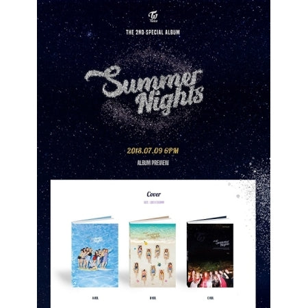 TWICE - 2nd SPECIAL ALBUM - [SUMMER NIGHTS] - K Pop Goods Pink House