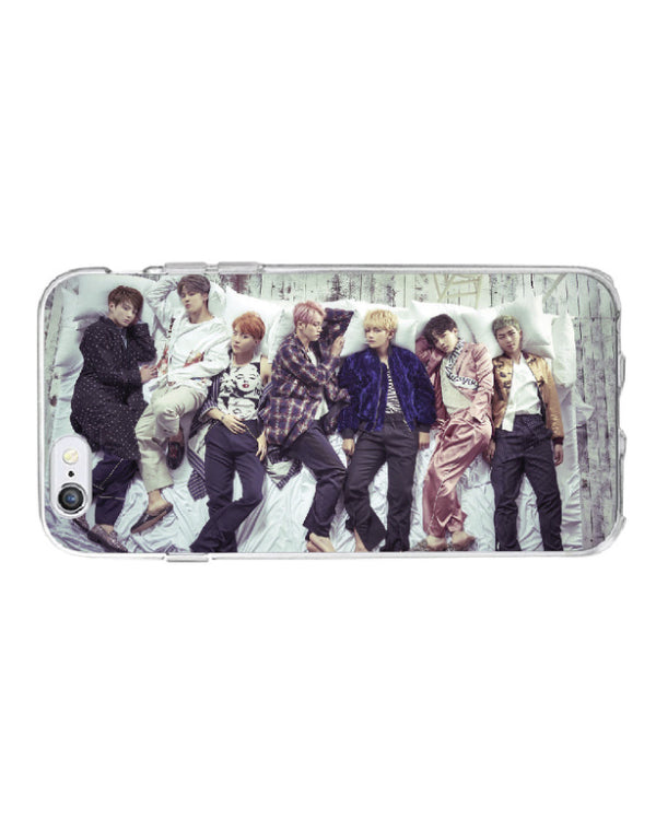 BTS Soft Silicone Phone Case for iPhone 7 PLUS , 8 PLUS - K Pop Goods Pink House