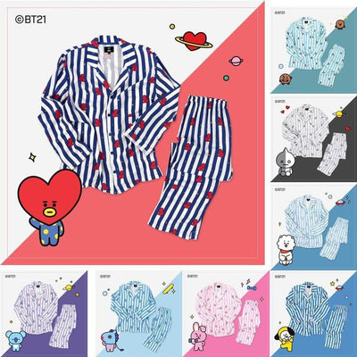 BT21 LONG-SLEEVE PAJAMAS