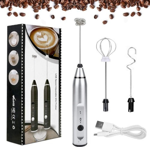 Rechargeable Frother Handheld Electric Foam Maker
