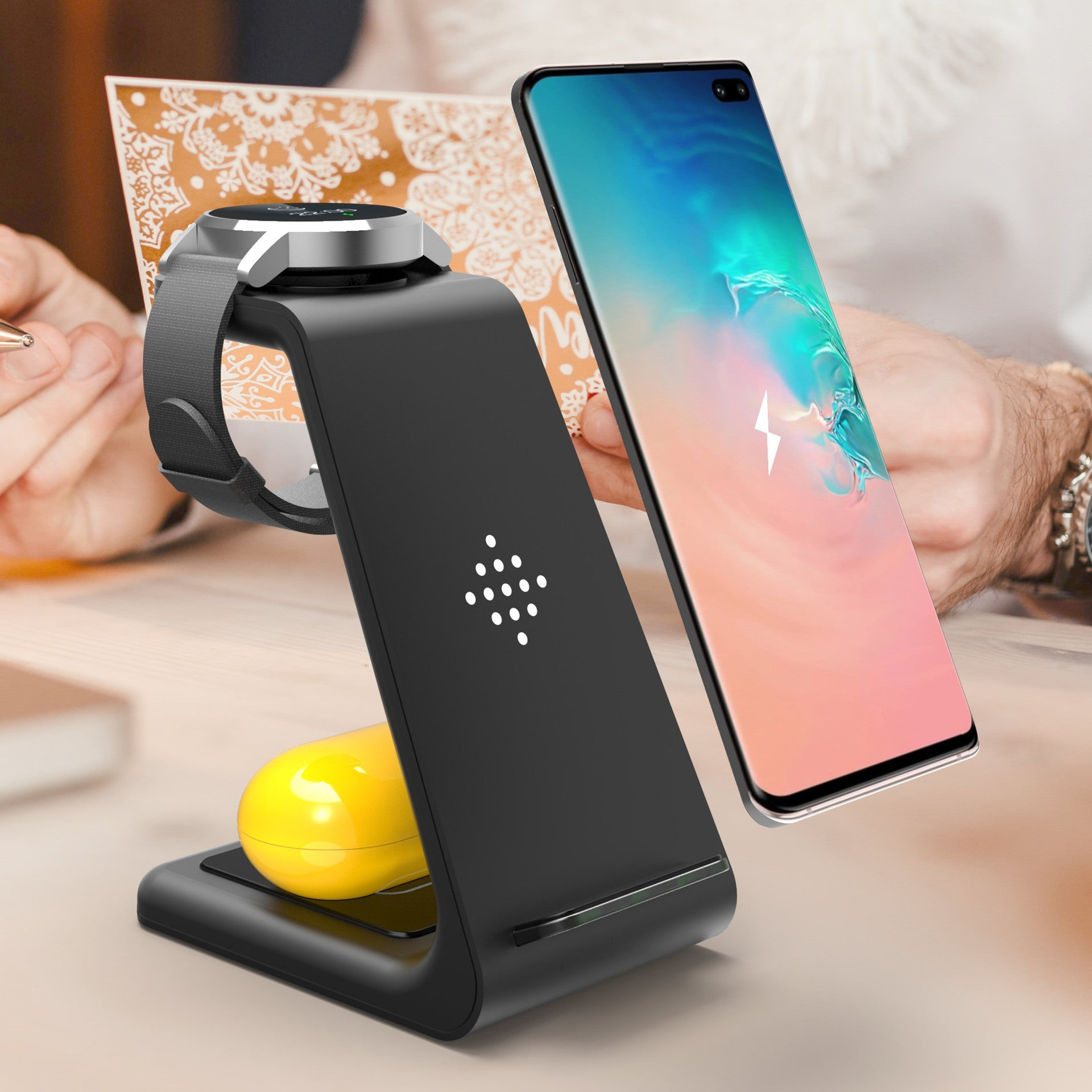 3-in-1 Stand Wireless Charger for iphone, Airpods and Watch