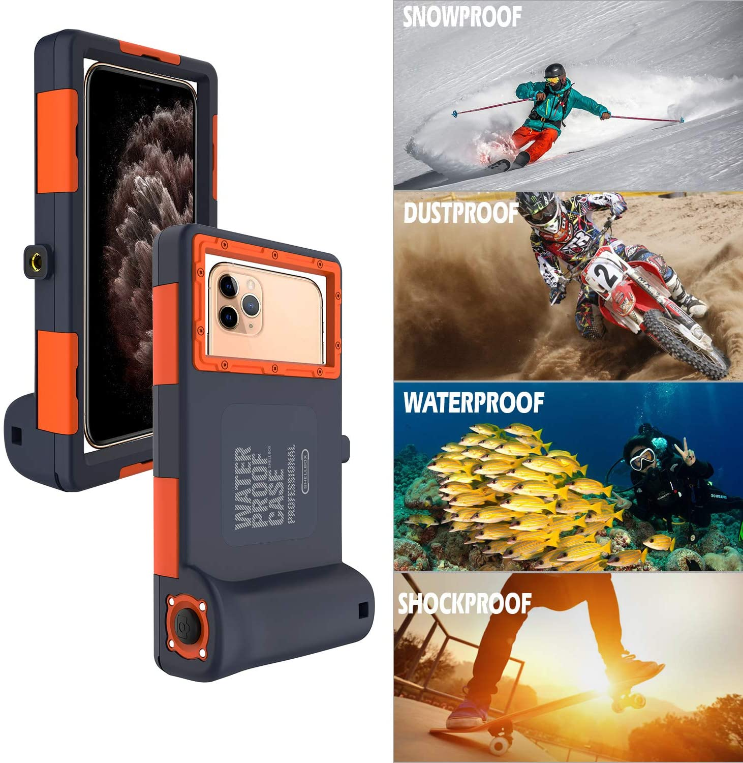 Professional Waterproof, Dustproof & shockproof Protective Case For iphone and Galaxy Series
