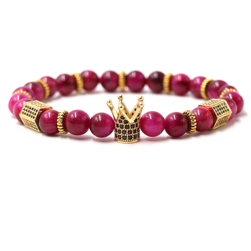 King Crown Heritage Stone Beads Bracelet