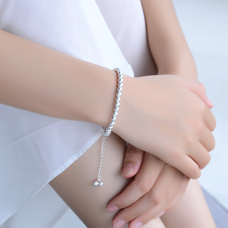 Sterling Frosted Silver Ball Bracelet