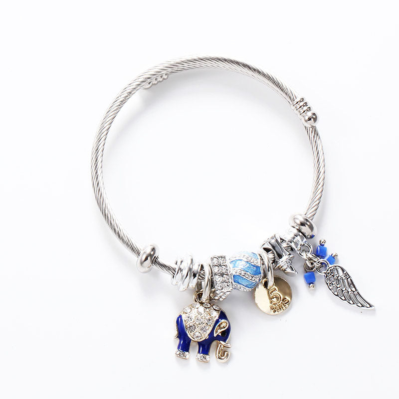 Fancy Adjustable Elephant Leaf Bracelet