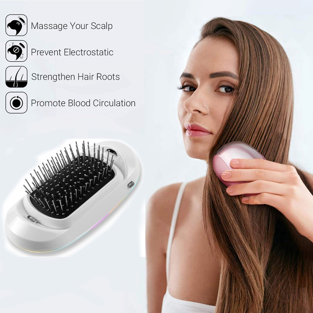 PORTABLE IONIC HAIR STRAIGHTENER BRUSH