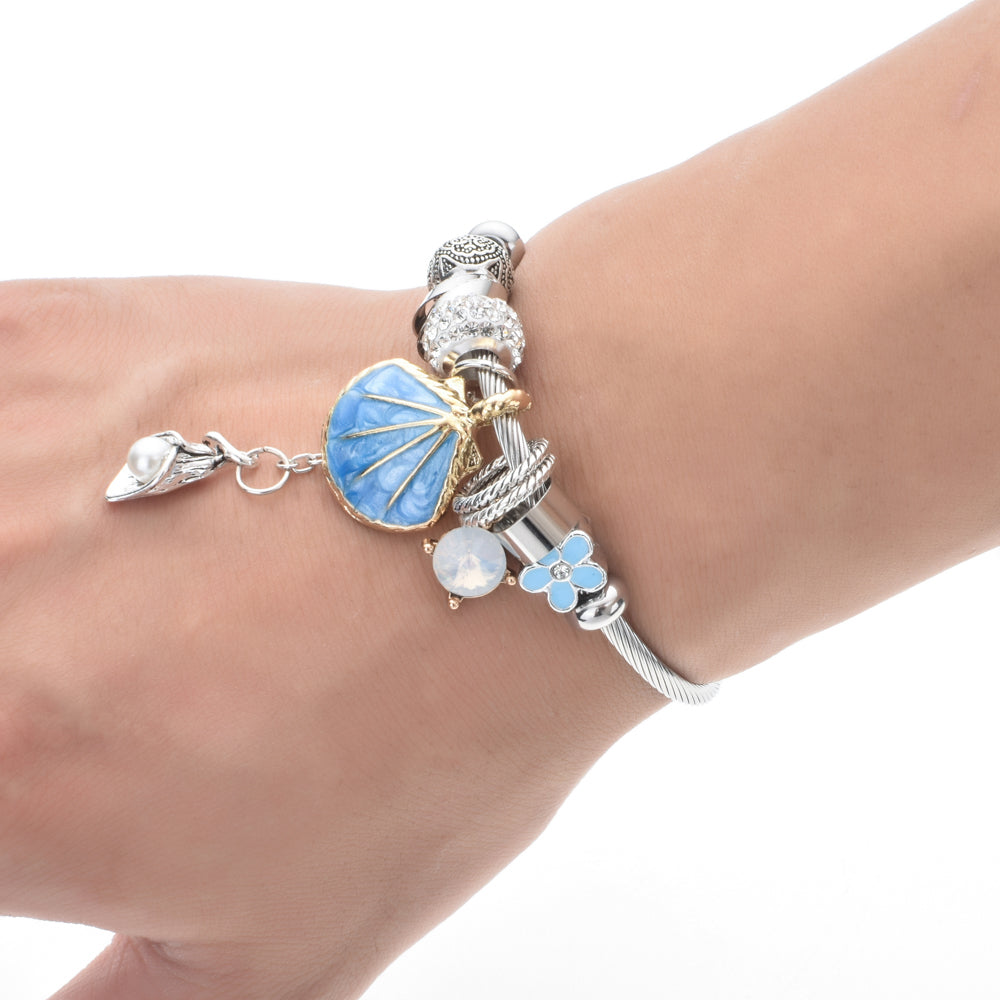 Sea Shell-Pearl Beach Adjustable Bracelet