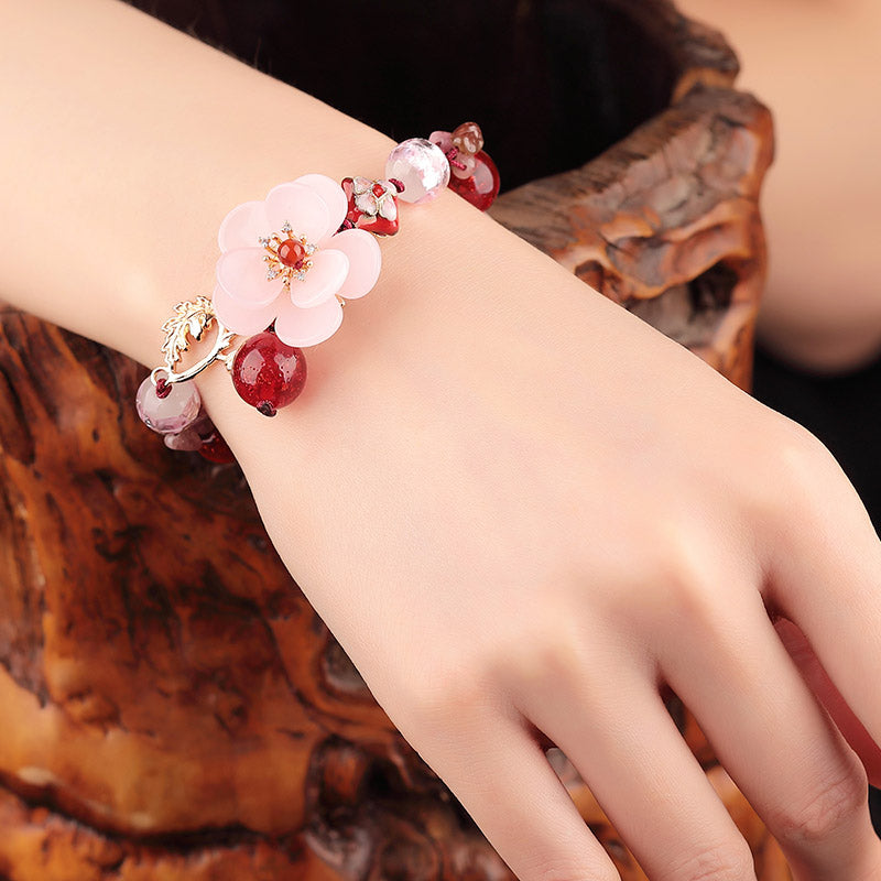Beautiful Handmade Classic Ethnic Flower Bracelet - 99Dolphins