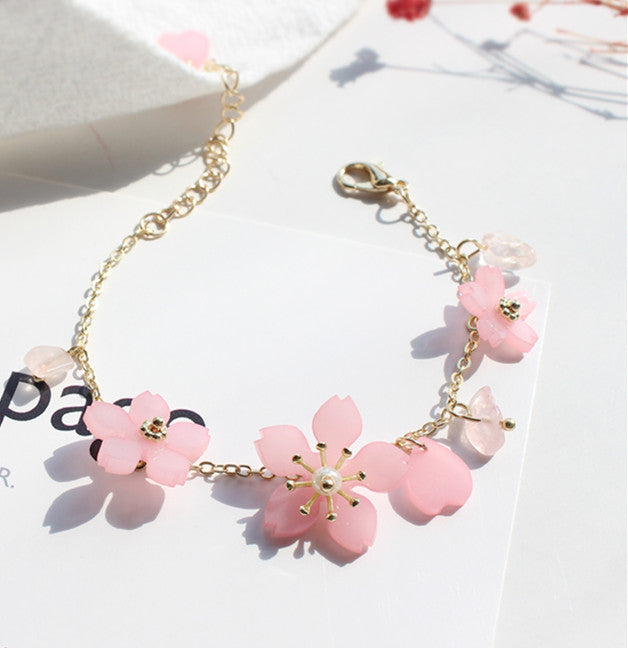 Fashionable Cherry Blossom Flower Bracelet