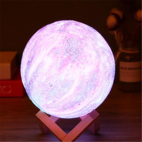 Colorful 3D Moon Lamp