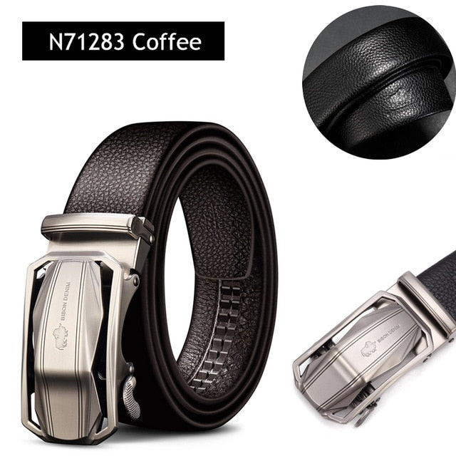 BISON DENIM Men's Leather Belts