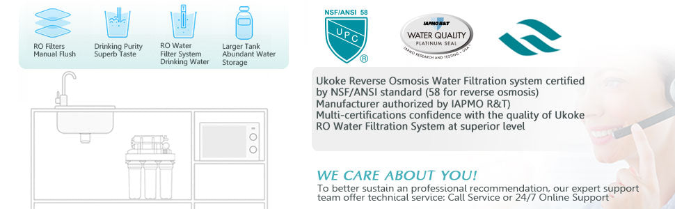 ukoke RO system certifications banner