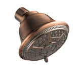 Ukoke High Pressure Fixed Mount Shower Head with 5 Spray Settings, Bronze