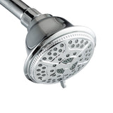 Ukoke High Pressure Fixed Mount Shower Head with 5 Spray Settings, Chrome