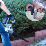 Ukoke Cordless Electric Power Leaf Blower with 20V 2A Battery and Charger Included