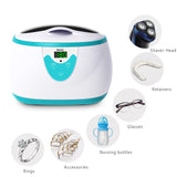 Ukoke Professional Ultrasonic Jewelry Cleaner with Timer, 0.6L, Green
