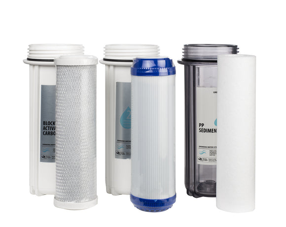 Ukoke RO75GP & RO75G 6 Months Replacement Pre-Filters for 6 Stage Reverse Osmosis Water Filtration Series Stage 1 - 3