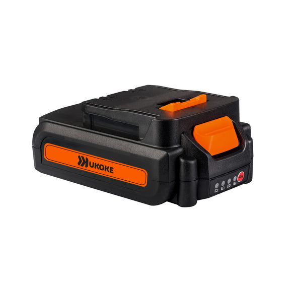 Ukoke Lithium Ion Battery 20V 2.0Ah for Cordless Electric Power Tools