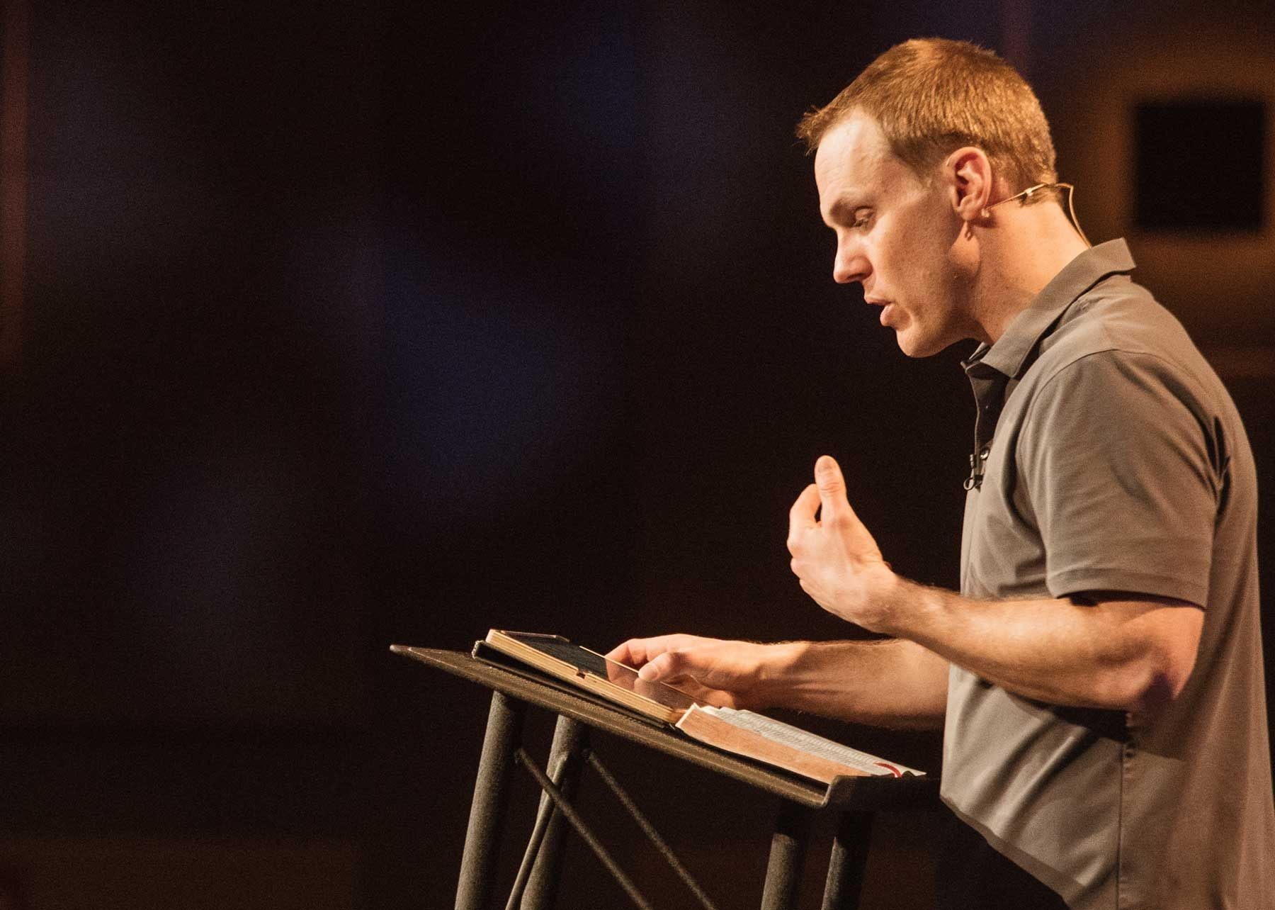David Platt at pulpit