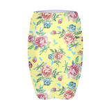Tossed Rose Floral Yellow Women's Mini Skirt