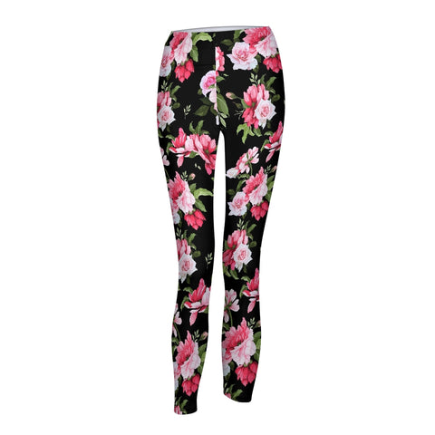 Peony Floral Print Women's Yoga Pant