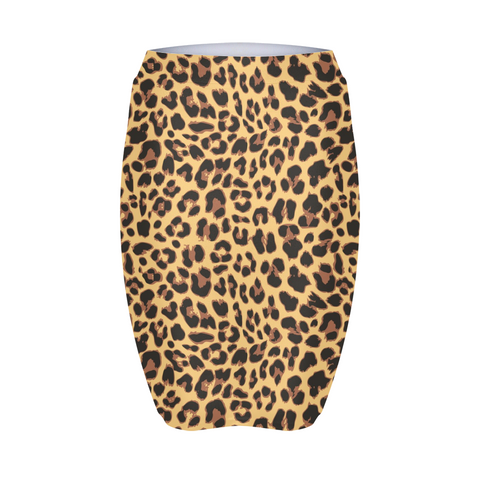 Animal Print Natural Women's Mini Skirt