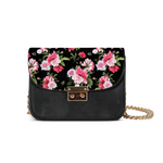 Peony Floral Print Small Shoulder Bag