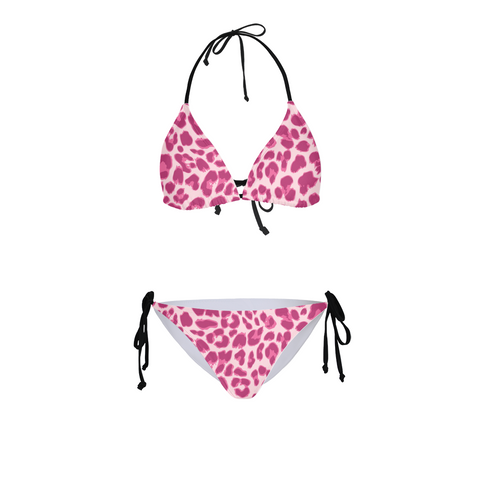 Animal Print Pink Combo Women's Bikini