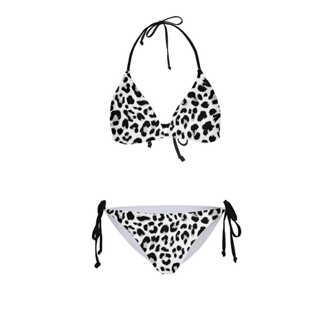 Animal Print Black White Women's Bikini