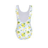 Summer Lemon Stripe Women's One-Piece Swimsuit