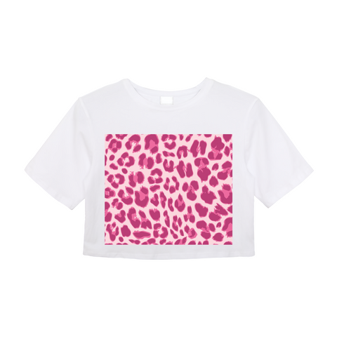Animal Print Pink Combo Women's Crop Top