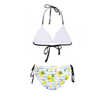 Summer Lemon Stripe Women's Bikini