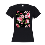 Peony Floral Print Women's Graphic Tee