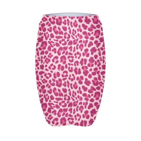 Animal Print Pink Combo Women's Mini Skirt