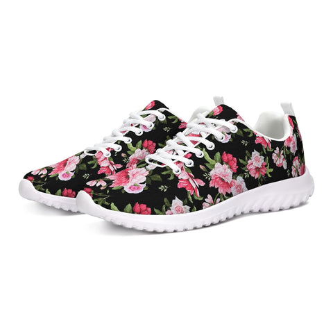 Peony Floral Print Athletic Shoe