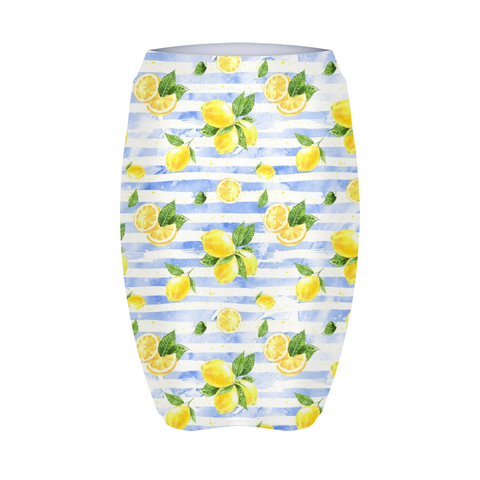 Summer Lemon Stripe Women's Mini Skirt
