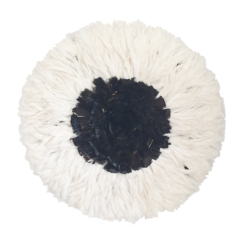 Juju hat - White with Dark Natural Center Large