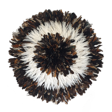 Load image into Gallery viewer, Juju hat - Dark Natural with White Large