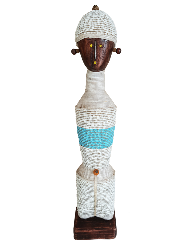 African Namji Doll Male Blue & White