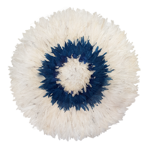 Juju hat - White with Blue Large-Extra Large